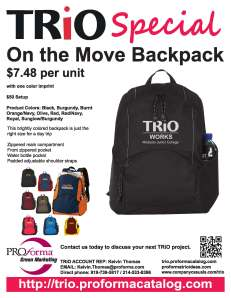 One the Move TRIO Sales Flyer.