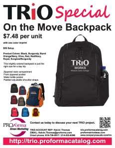 One the Move TRIO Sales Flyer.