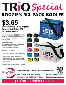 {Flyer TRiO- KOOZIE Six-Pack Kooler}