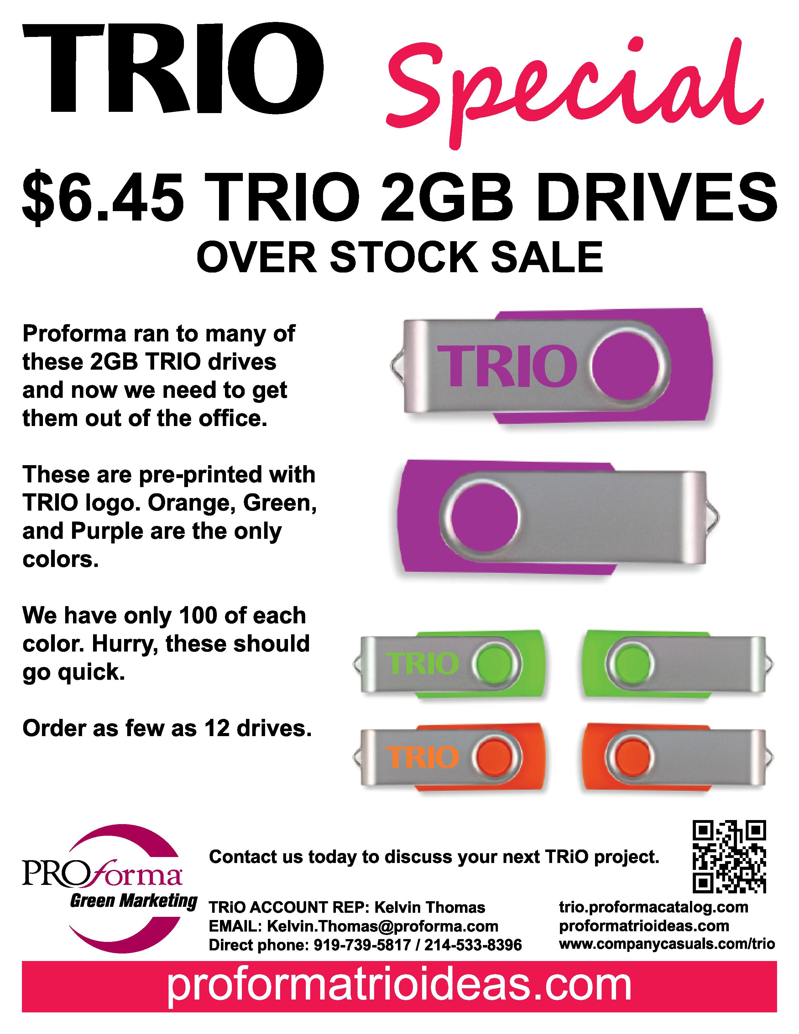 OVERSTOCK SALE 2GB USBs