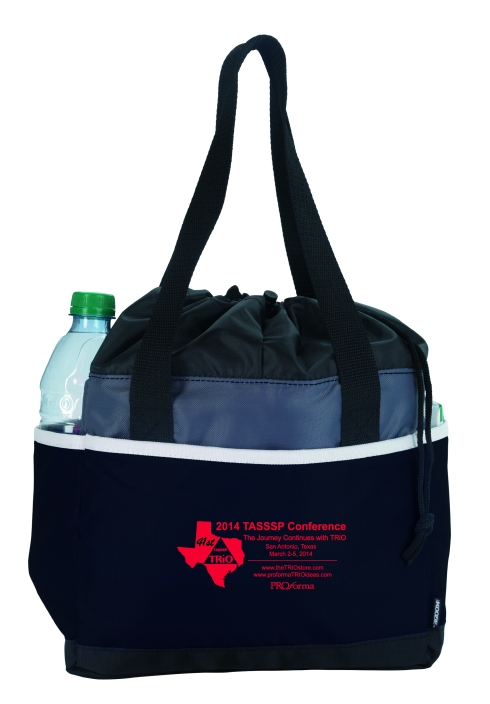 Don't leave home without it! Attractive and efficient, the Drawstring KOOZIE® Kooler allows for easy transport and offers continuous cooling.   Unique drawstring closure with carrying strap Heat-sealed main compartment Front and back pockets