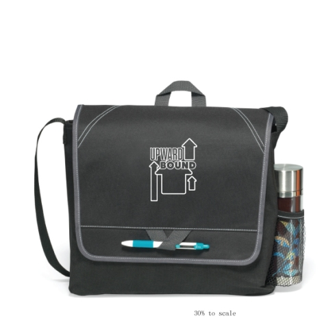 Stylish messenger bag for the busy professional or student. Shoulder strap and top grab handle. Pocket under front flap ideal for storing smart phone or business cards. Stylish contrast stitching. ID window on back.