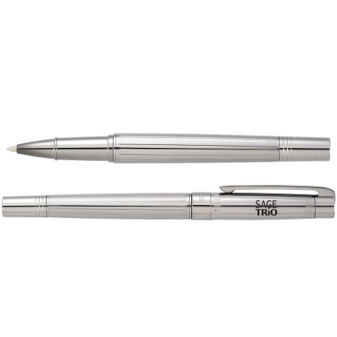 Exclusive Luxe pen set includes the Bravado ballpoint stylus and roller ball in a graphite finish. The soft rubber stylus tip is integrated into the end cap of the ballpoint pen. Compatible with any capacitive touchscreen device.