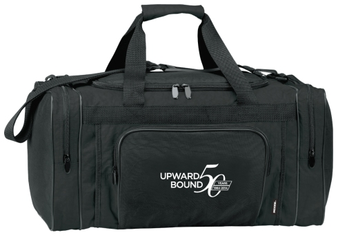 Duffel has room for 36 cans and ice plus 3 zippered pockets for gear or dry goods.  Large heat-sealed main compartment holds 36 cans and ice. Three zippered outside pockets. Strap adjusts to 43""