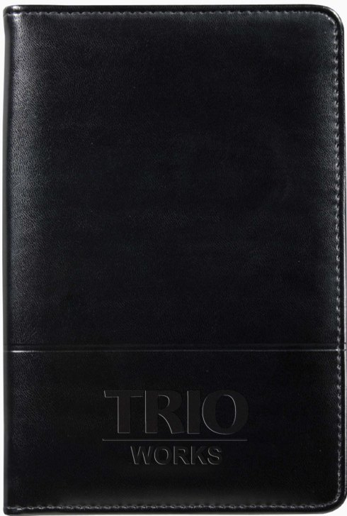 TRIO Works debossed on cover.