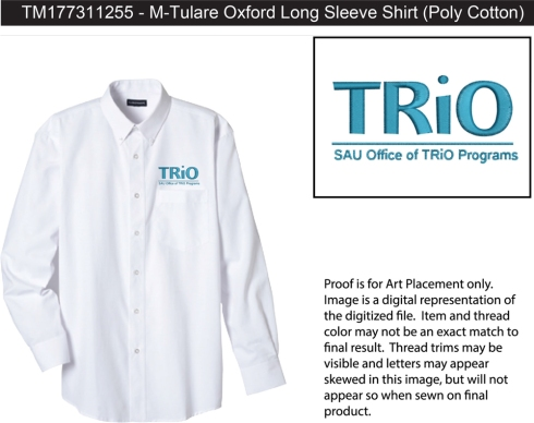 Tulare Oxford Long Sleeve Shirt This classic long-sleeve shirt with button-down collar is tailored with a pearlized button placket and features an upper patch pocket and left chest pocket with hidden utility loops. Double pleats at upper back for a looser fit. Available in four colors.