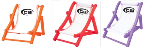 Chair holds your business cards or your cell phone. The perfect product, versatile for any type of promotion.