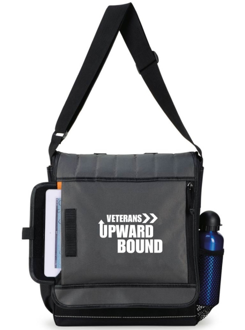 """This modern computer bag was designed with the tech-savvy professional in mind Padded, scratch-resistant exterior pocket fits most tablets and e-readers Padded, zippered computer sleeve fits up to a 15.4"""" laptop Front zippered pocket Side mesh water bottle pocket (water bottle not included) Side cell phone pocket with Velcro closure Multi-function organizer under front flap Wide, adjustable shoulder strap for carrying comfort. Fits up to a 10"""" tablet"""