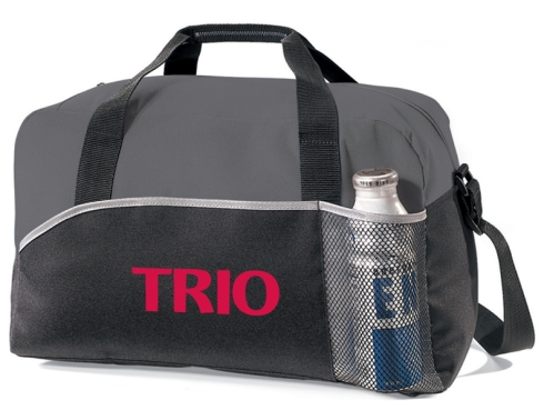 This all-purpose duffel is just right for the gym or park Front pocket for water bottle (bottle not included) Side pocket for water bottle (bottle not included) Adjustable, non-removable shoulder strap and top grab handles This product is kid-friendly/CPSIA compliant Back panel of each bag is black