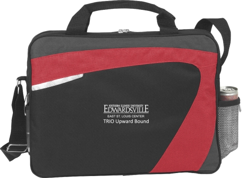 Express yourself with this stylish Swoosh Brief, available in a variety of colors   Zippered main compartment Front slip pocket Clear business card pocket and pen loop Mesh water bottle pocket and adjustable shoulder strap