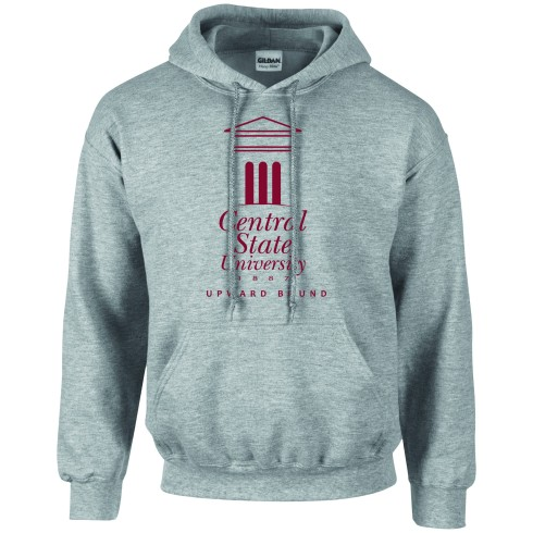 Classic fit hooded sweatshirt made of 8 oz. 50/50 Cotton/Polyester blend Preshrunk Fleece. Features air jet yarn that makes for a softer feel and reduced pilling. Double-lined hood with matching drawstring. Pouch pocket. Double needle cuffs.