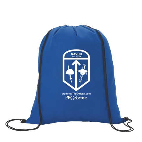Carry your essentials with you wherever you go with this very affordable and lightweight backpack.   Drawstring cinch closure Large imprint area