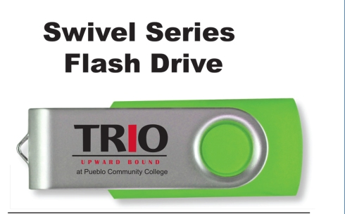 Swivel drive, two color imprint.