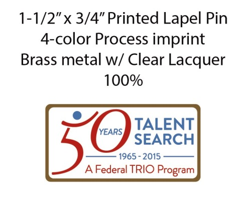 50th UB printed pin E-Proof layout