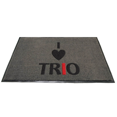 "Absorbent Indoor / Covered Outdoor ""Carpet-Type"" Logo Mats Slightly raised logo embedded on top of the mat surface Features durable vinyl backing Size: 18""X27""  Imprint Area: 14""x23"""