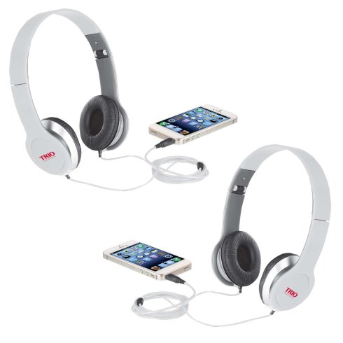 Clean sound and bass is delivered by the on ear headphones. Connect to your iPad, iPhone or other Tablet and Smartphone via 3.5mm jack and deliver the sound that those devices were meant too. Easily fold the headphones down and insert them into the velvet pouch for easy transporting.