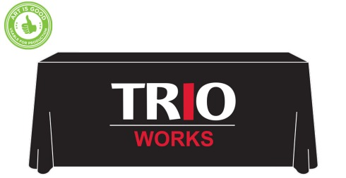 TRIO Works two color table cover.
