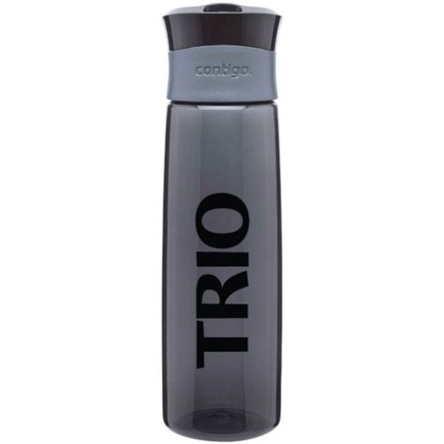 24 oz Contigo AutoSeal Hydration copolyester sport bottle tumbler with carrying loop and push button opening. BPA Free.