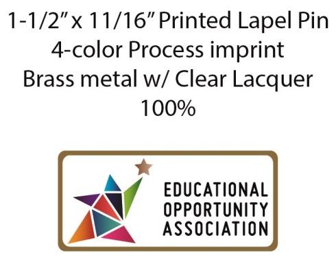 4-color process lapel pin