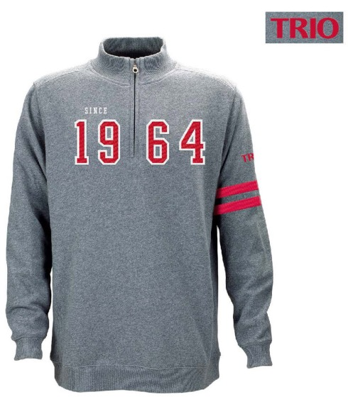 DECORATION: Full Split Chest Twill Applique And Embroidery, Left Bicep Embroidery With Custom Left Sleeve Red Varsity Stripe.